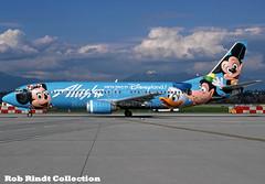 Alaska Airlines B737-4Q8 N784AS (planepixbyrob) Tags: alaska alaskaairlines boeing 737 737400 n784as disney mickey yvr vancouver vancity retro kodachrome