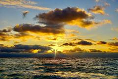 Evening at the sea (prokhorov.victor) Tags: море вечер природа закат солнце небо облака