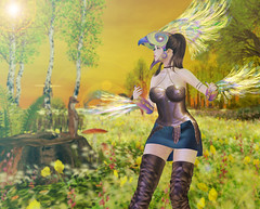 184. A warrior must only take care that her spirit is never broken (rednessv) Tags: midna choker dress faida amber sprralle wind rider zephyr maitreya redeux event secondlife slblogger sl genus legacy