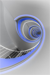 Blue&white (Yamabxl) Tags: blanc bleu escaliers stairs staircase treppen treppenhaus architecture modern geometry graphisme graphics helix colimaçon france trap trappenhuis