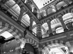 Magna Plaza (www.chriskench.photography) Tags: holland bw nikon monochrome coolpix blackandwhite a1000 wwwchriskenchphotography buildings travel kenchie europe amsterdam architecture northholland netherlands