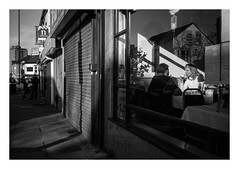 FILM - Outside in (fishyfish_arcade) Tags: 35mm analogphotography bw blackwhite blackandwhite canonsureshotmax delta400 filmphotography filmisnotdead istillshootfilm monochrome analogcamera compactcamera film ilford mono streetphotography