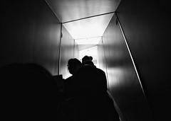 follow you, follow me (gro57074@bigpond.net.au) Tags: followyoufollowme silhouettes silhouette skyscraper shibuyascramblesquare shibuyascramble f35 2470mmf28 tamron d850 nikon people dark light escalator shibuya japan february2020 guyclift monochromatic monotone monochrome mono bw blackwhite