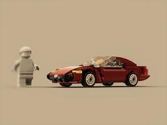 Jaguar X100 (XK8) (ron_dayes) Tags: lego jaguar xk8 x k 8 minifigure scale