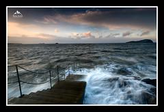 North Berwick Sunset (rosscosqf) Tags: north berwick d850 nikon seas stormy storm ciara east lothian sunset scotland waves