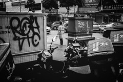 Traffic. (Andy @ Pang Ket Vui ( shootx2 )) Tags: malaysia street photography black white lensculture police traffic jam congestion