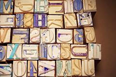 letters&numbers (homework lab) Tags: print old vintage letters