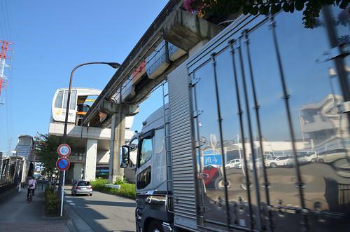 Tama Monorail Train Leaving Koshu-kaido Station 7