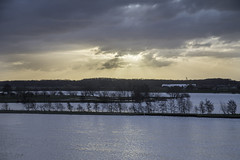 High water (Theo Bauhuis) Tags: maas hoogwater neer ochtend somber meuse highwater flooded foodplanes sunrise dark darkclouds