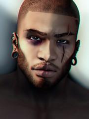 (iozi.wasp) Tags: unorthodox bom applier omega hairbase beard eyebrows scars enhcancements male gloom tmj tmd portrait