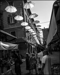 Wave (GColoPhotographer) Tags: umbrella bw liguria bianconero blackandwhite urbanexploration street