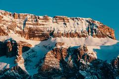 One big rock (Nicola Pezzoli) Tags: italy italia val gardena bolzano dolomiti dolomites mountain montagne ski sci snow neve winter inverno gröden sella sellaronda sunset enrosadira tramonto zoom rock roccia