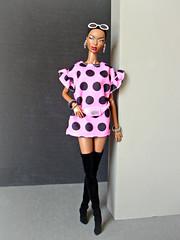 Hello Kitty (Deejay Bafaroy) Tags: facesofadele adele makeda integrity toys fashion royalty fr thefacesofadele doll puppe black schwarz pink portrait porträt overknees boots stiefel