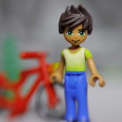 He rode his bike to the park (DayBreak.Images) Tags: toys tabletop boy bicycle lego canondslr ringlight extensiontube minifigures lensbabysol45