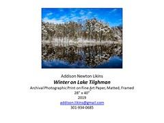 "Winter on Lake Tilghman • <a style=""font-size:0.8em;"" href=""http://www.flickr.com/photos/124378531@N04/49530919761/"" target=""_blank"">View on Flickr</a>"