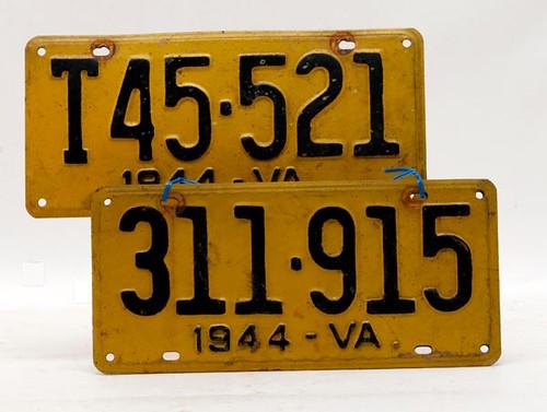 1944 VA License Plate Pair ($106.40)