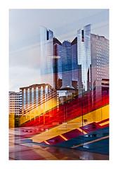 reflets sous la grande arche (Marie Hacene) Tags: arche ladéfense reflets transparence silhouette urbain architecture