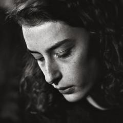 Lily (.Betina.) Tags: woman cinema beauty freckles vintage singer betinalaplante portrait portraiture monochrome mood mono moody mouth blackandwhite