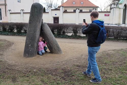 Vyšehrad, Praha, Čertův sloup (20200201)