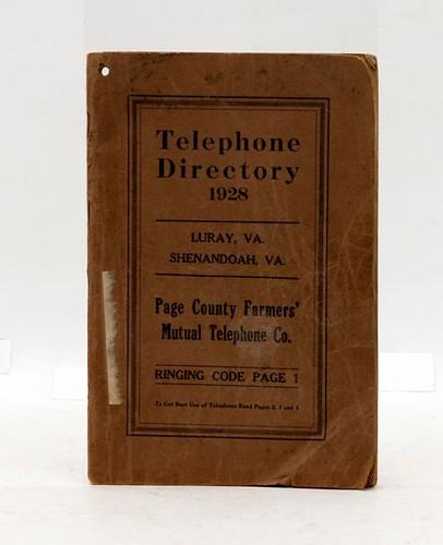 Luray, VA 1928 Telephone Directory ($420.00)