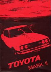 RT62 RT72 TOYOTA mark 2 SALOON, ESTATE, COUPE BROCHURE 1970 (celicacity) Tags: estate rt62 rt72 toyota saloon coupe brochure 1970 louwman parqui mark 2