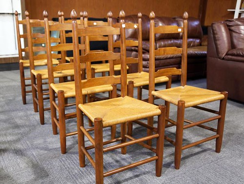 8 Clore Ladderback Chairs ($448.00)
