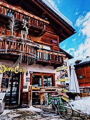 Up for a coffee? (andraleonte) Tags: cocktail hugo fun love sport ski travelphotographer travelphotography travelinstyle travel winter cozy coffeeshop livignostreets italy livigno