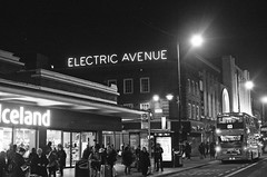 Electric Avenue // Brixton // London (kjieiylv94) Tags: olympus om1 ilford hp5plus film london blackandwhite 35mm
