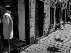 Dummy (GColoPhotographer) Tags: shadow liguria bw blackandwhite mannequin bianconero street
