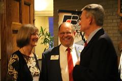 Mary and Bryan Searle greet Gov. Little (IdFarmBureau) Tags: gov brad little ifbf legislative buffet