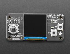 """Adafruit 1.3"""" Color TFT Bonnet for Raspberry Pi - 240x240 TFT + Joystick Add-on (adafruit) Tags: 4506 bonnet bonnets adafruitbonnet tft tfts raspberrypi pizero raspberrypizero raspberrypizerow joystick colortft"""