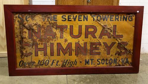 Natural Chimneys, Mt. Solon VA Metal Sign ($179.20)