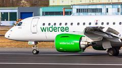 Wideroe (mairmaximilian) Tags: wideroe embraer e190e2 e190 e2 wf wif landing takeoff airport flughafenmemmingen memmingen runway avgeek spotter planespotter