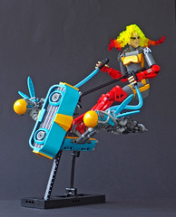 Delfte Solflare and Azure Mayfly (Eero Okkonen) Tags: lego moc character space cyberpunk scifi speeder newelementary partsfestival