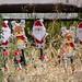 Santas on Sticks