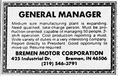 1983 - Bremen Motor Corp - South_Bend_Tribune_Sun__Apr_24__1983_
