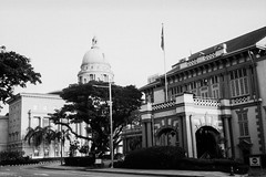 Ceylon Club and old Supreme Court (Thanathip Moolvong) Tags: olympus 35 sp foma 100 2 bw film hc110 developer