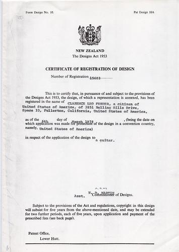 Clarence Leo Fender, Guitar Design File