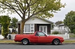 1986 Ford Falcon (stephen trinder) Tags: stephentrinder stephentrinderphotography aotearoa godzone kiwi landscape 1986 ford falcon ute pickup house nz newzealand christchurchnewzealand red