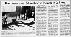 1981 - Bremen Sport bond - South Bend Tribune - 7 Oct 1981