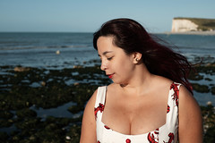 Nidcy Namite. (Nicolas Fourny photographie) Tags: canon 6d 50mm model beauty portrait portraiture womanportrait girlportrait cleavage naturallight dof depthoffield summer evening beach longhair