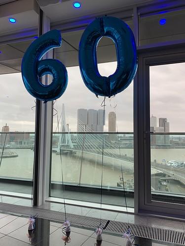 Folieballon Cijfer 60 Intell Hotel Mainport Rotterdam