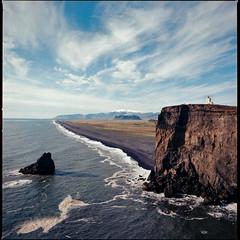 Iceland (Wowo Banderas) Tags: пленка film hasselblad500cm kodakektar 100 analog analogue mediumformat 6x6 square 120 120film love art ishootfilm believeinfilm ocean iceland lighthouse