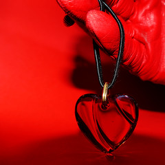 Unchain my heart … (Le.Patou) Tags: jsslll challenge lookingcloseonfriday heart fz1000 closeup red pendant necklace glove love square cmwd cmwdred
