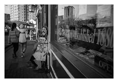 FILM - Haircut while you wait sir? (fishyfish_arcade) Tags: 35mm analogphotography bw blackwhite blackandwhite canonsureshotmax delta400 filmphotography filmisnotdead istillshootfilm monochrome analogcamera compactcamera film ilford mono streetphotography reflection