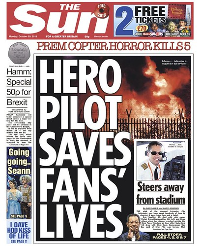 27th October 2018 - Leicester City Helicopter Crash - Daily 2