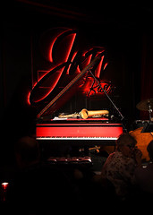 Tha Jazz Bistro (Anthony Mark Images) Tags: thejazzbistro jazzclub concerts livemuisc redandblack steinwaysons grandpiano redblacksteinwaypiano saxophone sheetmuisc drums doublebass redneonlights candle romantic people tables toronto ontario canada victoriast nikon d850 flickrclick jazz music piano jazzfm911safari