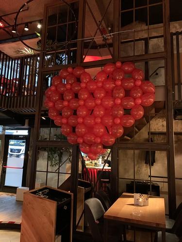 Ballonnenhart Ballonnenwand Valentijnsdag Cafe in the City Rotterdam