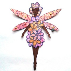 Blossom Fairy paper doll (JuliaPeculiart) Tags: flower fairy blossom fae faeholm juliapeculiar paper doll paperdoll jointed articulated handmade papercrafts puppet