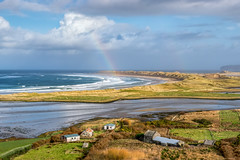 """At Rainbows End"" - Magheroarty Beach (Gareth Wray - 13 Million Views, Thank You) Tags: tory island walking strand dune sand beach ballyness falcarragh magheraroarty bay landscape seascape view gweedore county donegal ireland irish countryside nature gareth wray photography nikon d850 2020 stormciara storm ciara nikkor 2470mm zoom lens scenic landmark tourist dunes gaeltacht townland abandoned cottage house dry stone famine homestead pier tourism location visit wild sight site atlantic ocean way sea summer day photographer vacation holiday inishdooey europe sky wildatlanticway water chasing rainbow rainbows gold"
